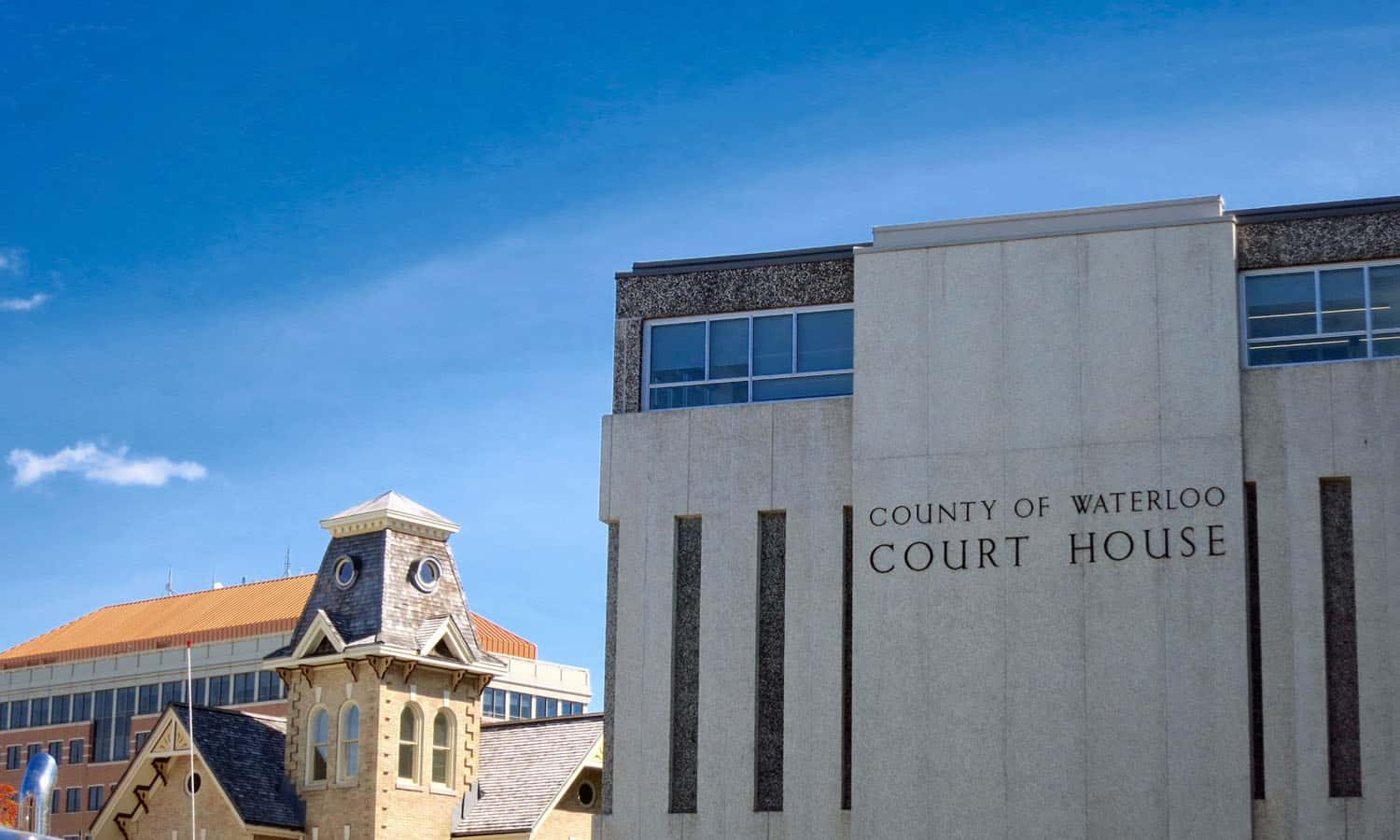 The courthouse is part of a civic precinct with a heterogeneous character