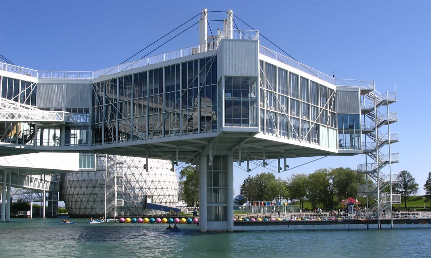 Ontario Place Pods are anchored into the water